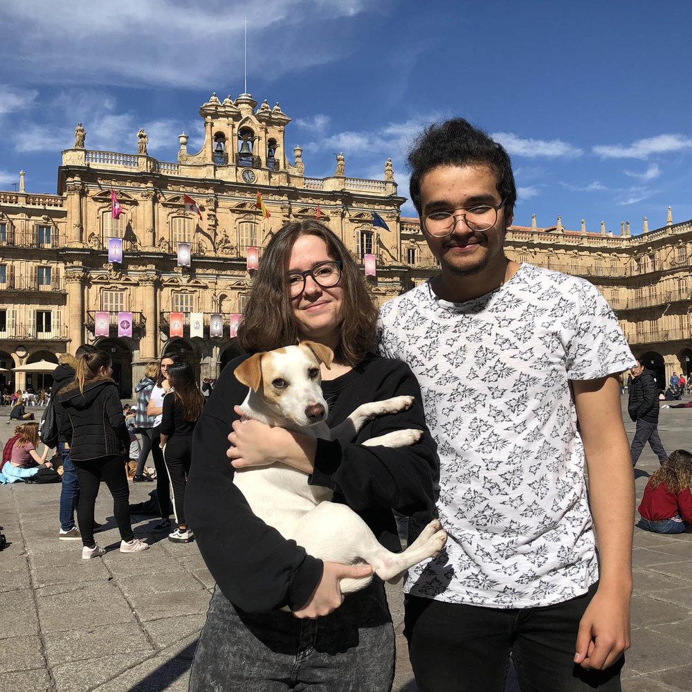 Con Ainoa y Miguel.