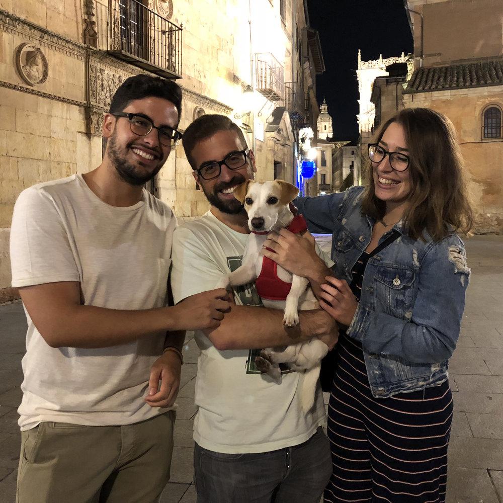 Con Edgar, Pablo y Lidia.
