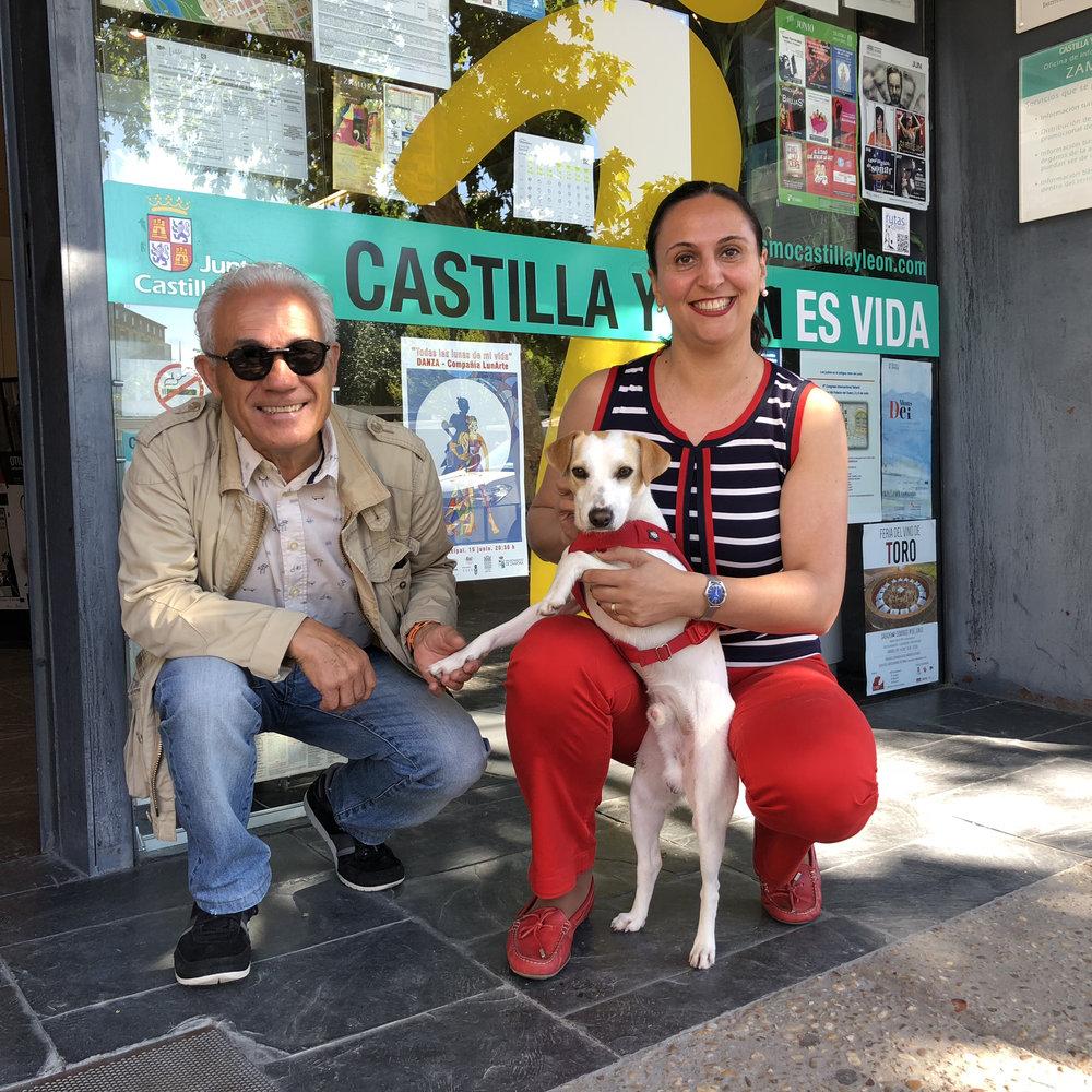 Con Miguel y Noelia.