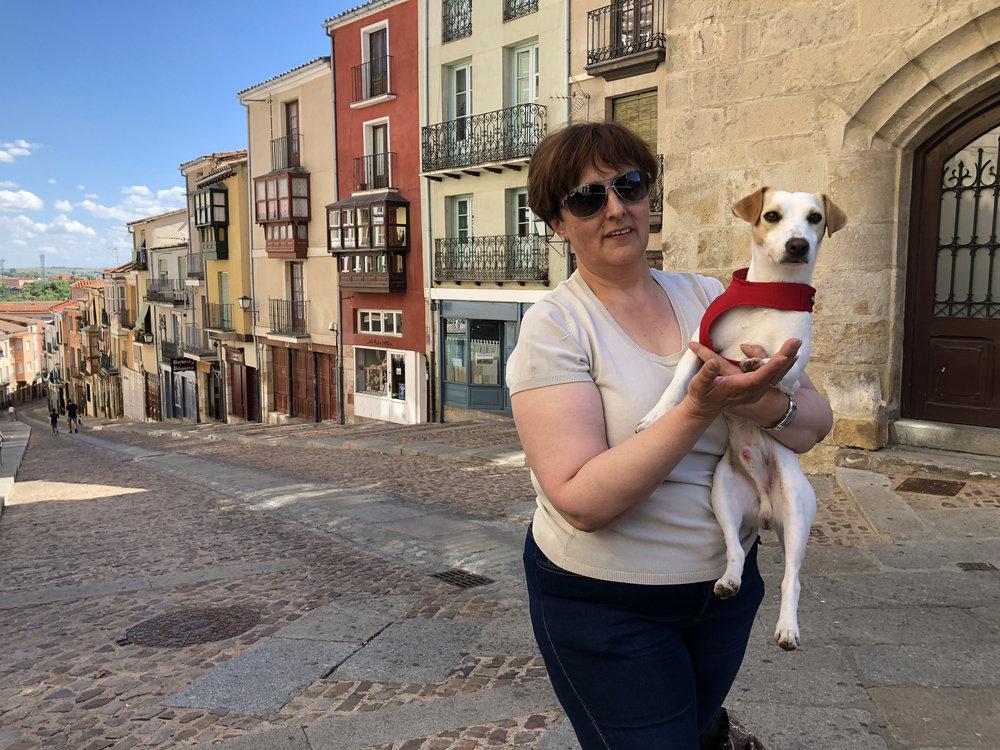 Con María José.
