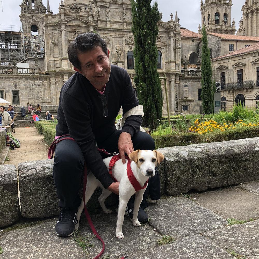 Con Fernando, en Santiago de Compostela.