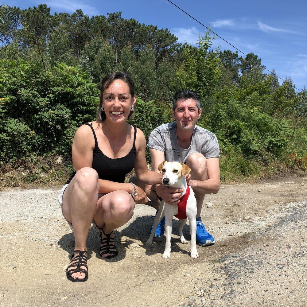 Con Bea e Iñaki en Cabo Touriñán.