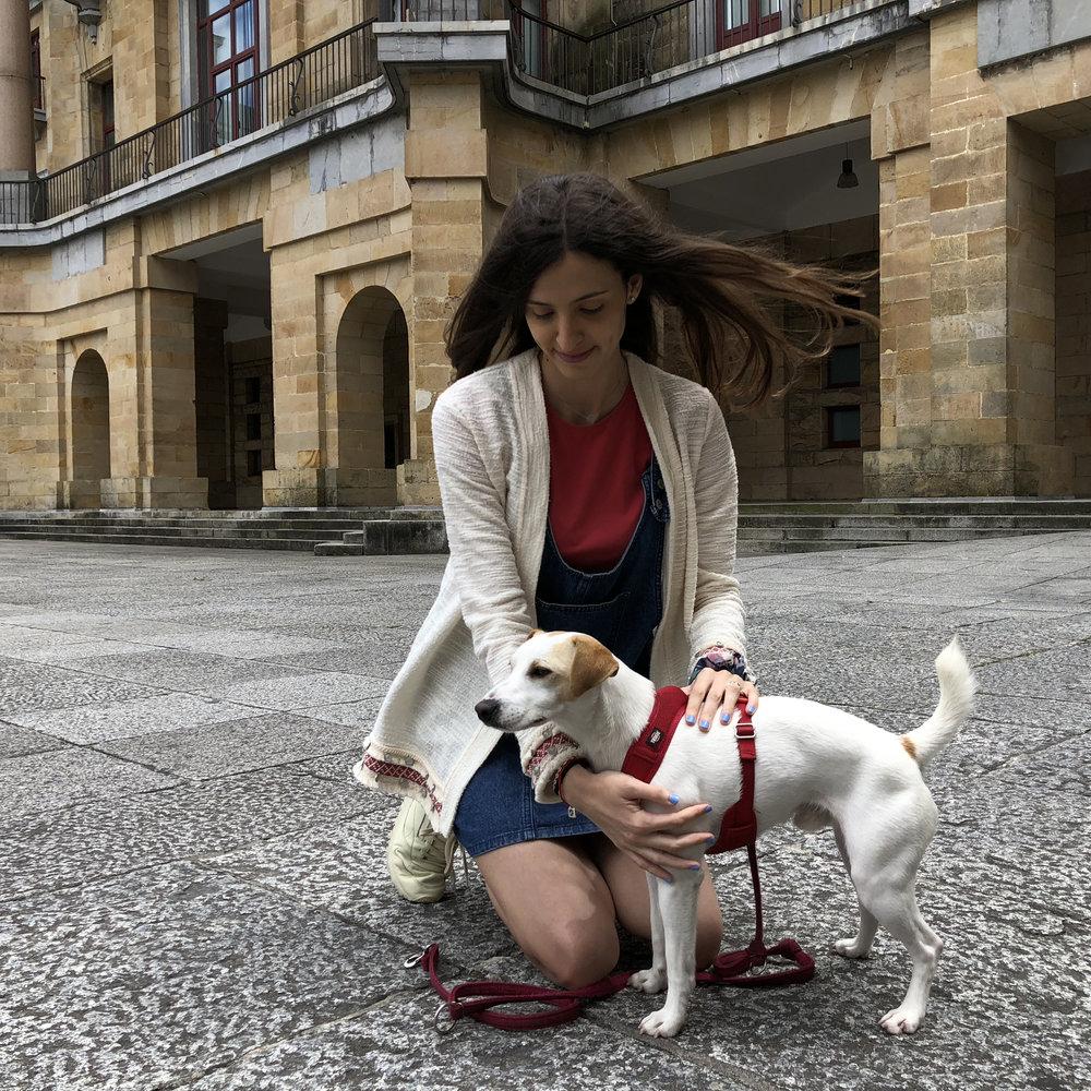 Con Laura en La Laboral de Gijón.