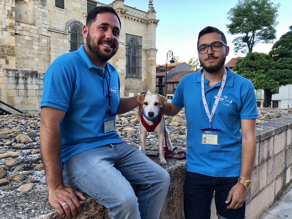 Con Jorge y Raúl.