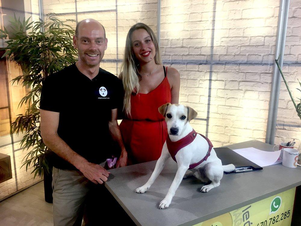 Con Patricia y Pablo en la 8 León TV.