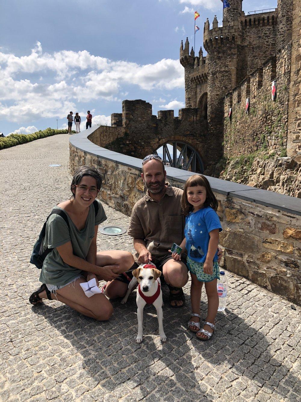 Con la familia Olivan Pérez en Ponferrada.