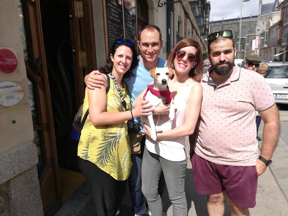 Con Inma, Marc, Rocío y Alfonso en Astorga.