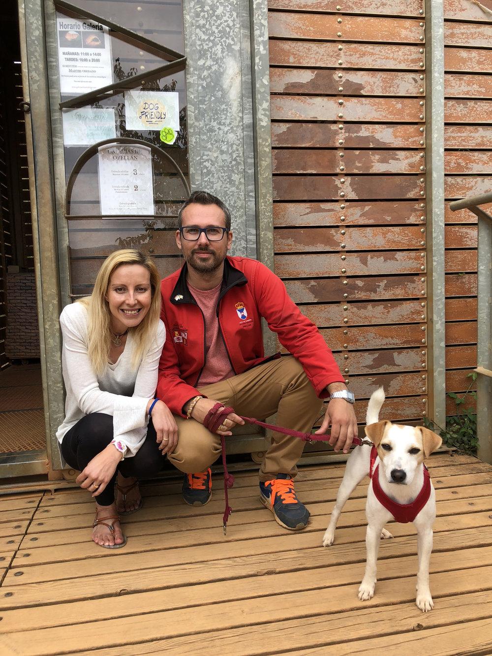 Con Bea y Ricardo en Las Médulas.
