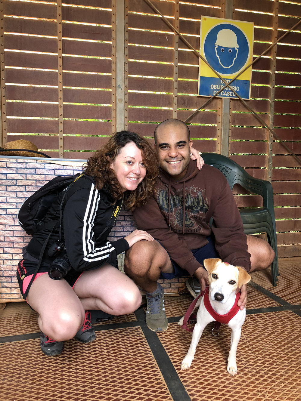 Con Mayka y René en Las Médulas.