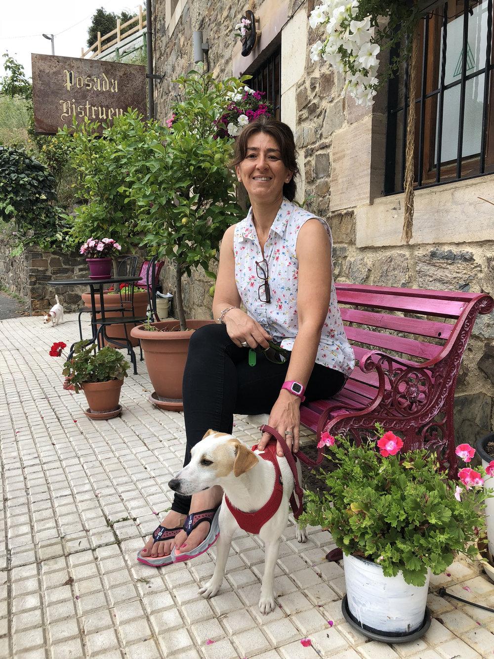 Con Chefi en Posada Bistruey, en Vega de Liébana.