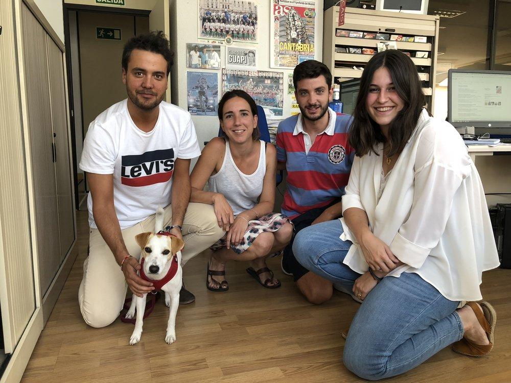 Con Álvaro, Miren, Óscar y Jana en SER Santander.