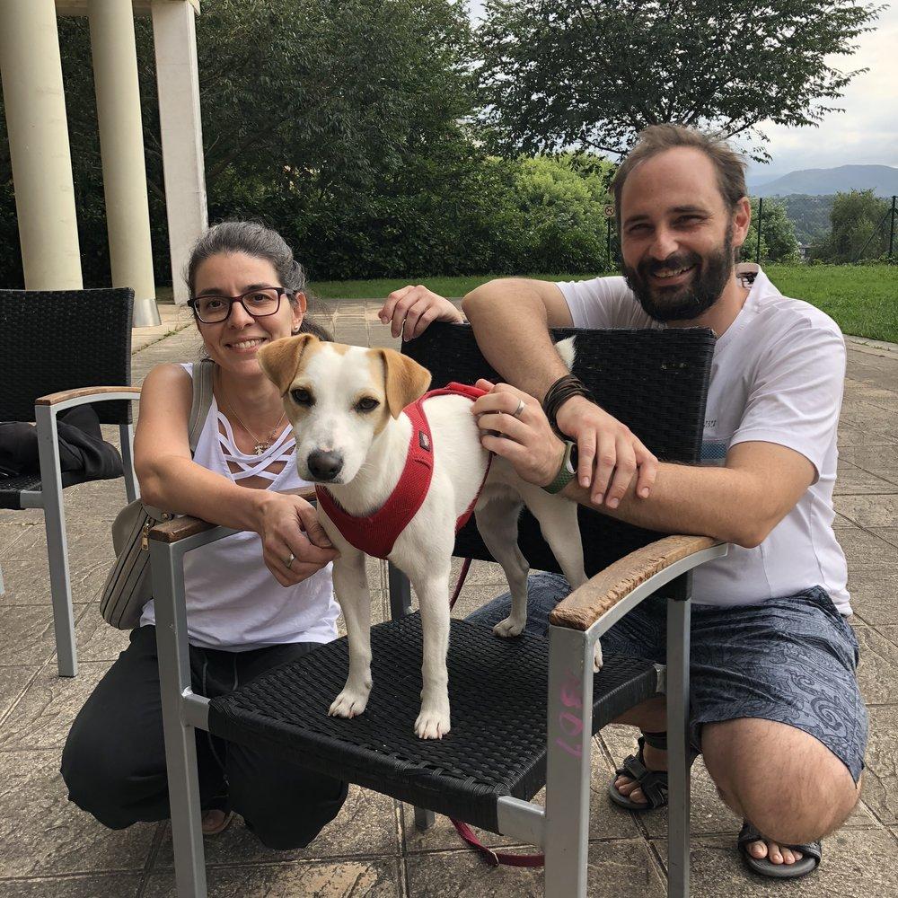 Con Rebeca y Francisco en Donostia.