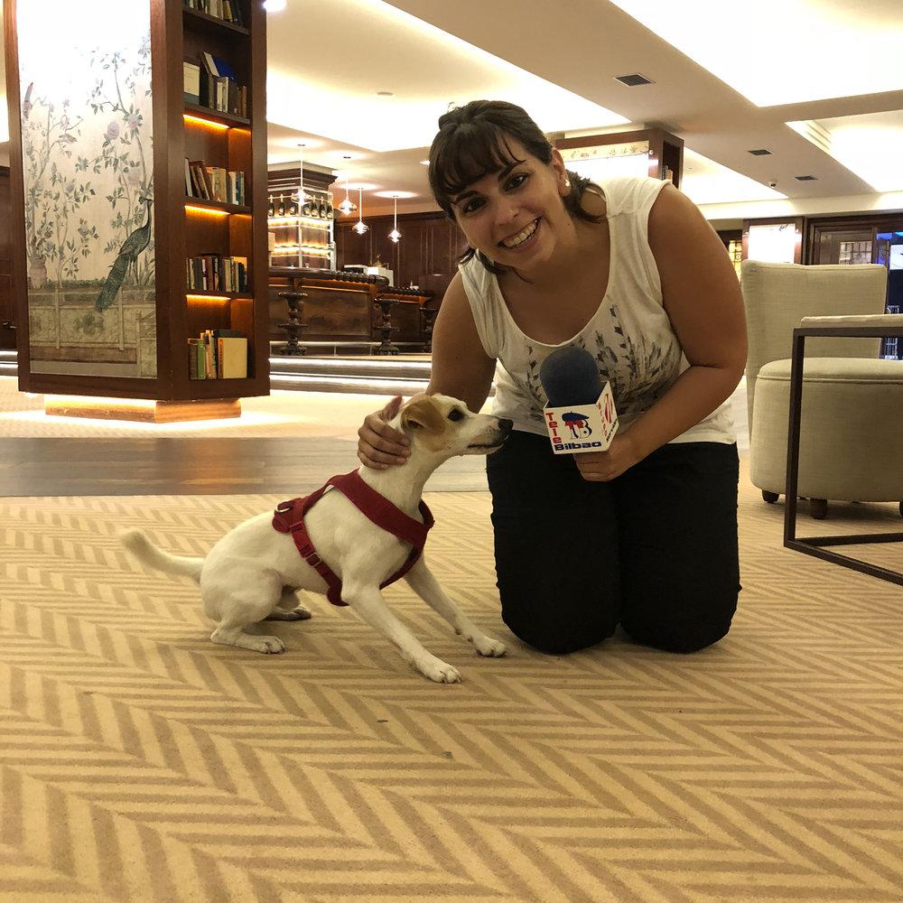 Con Marlene, de Tele Bilbao.