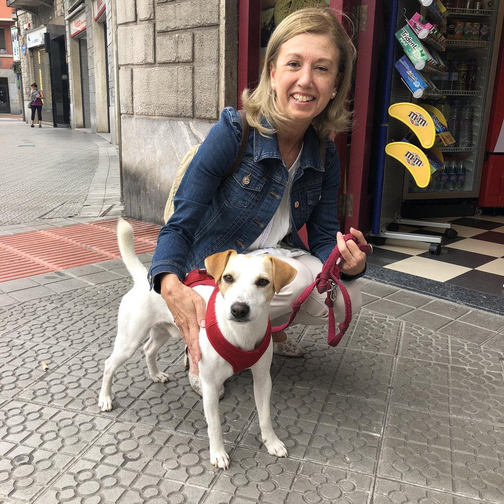 Con Nerea en Bilbao.