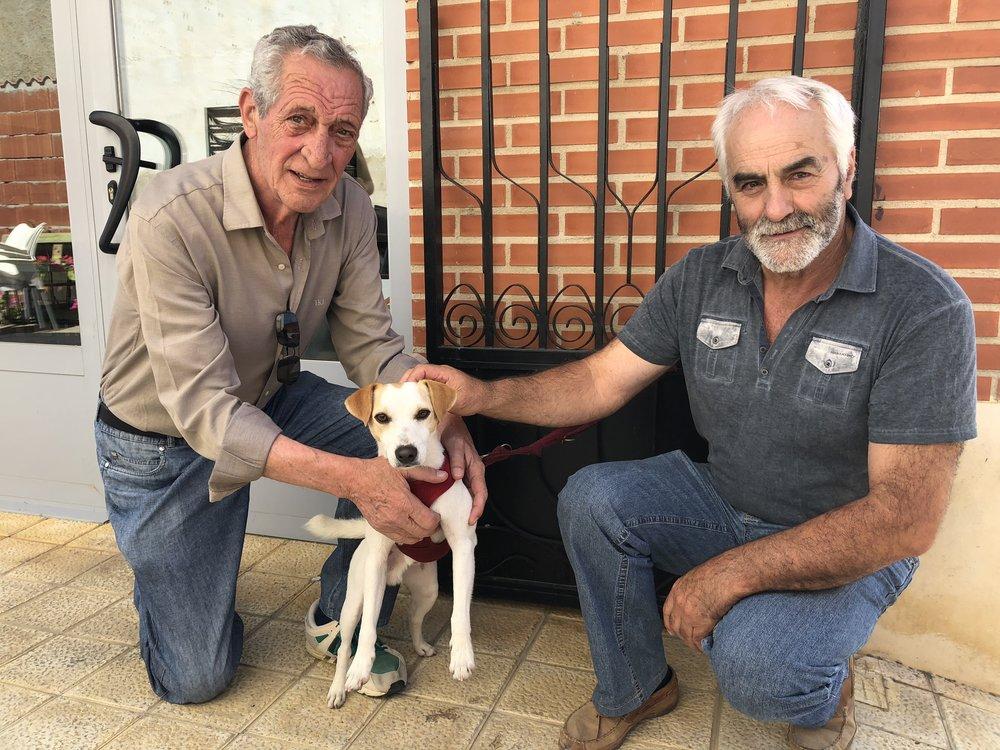 Con Chincho y Julio en en Ribas de Campos.