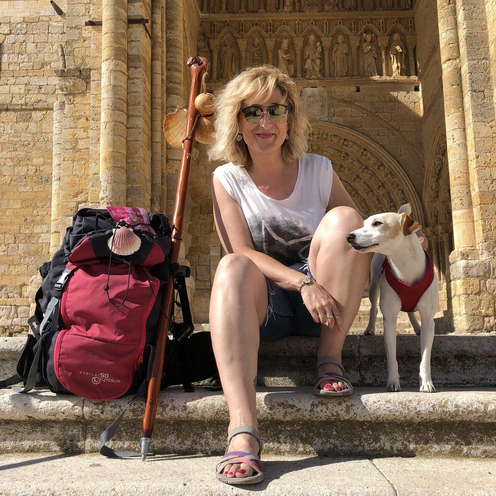 Con Ana en Villalcázar de Sirga.