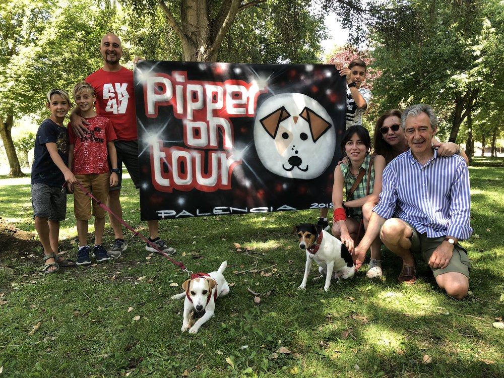 En Palencia con mis colegas de cuatro patas y sus humanos.