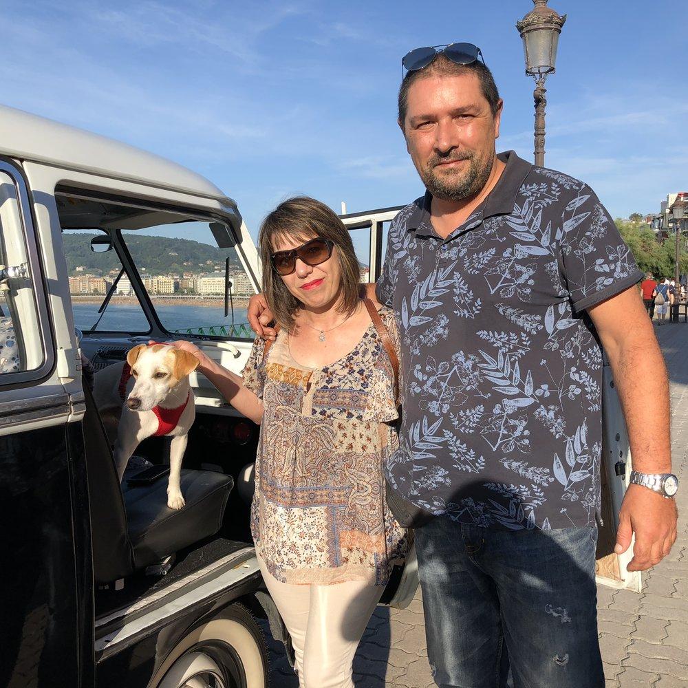 Con Verónica y Alberto en Miraconcha.