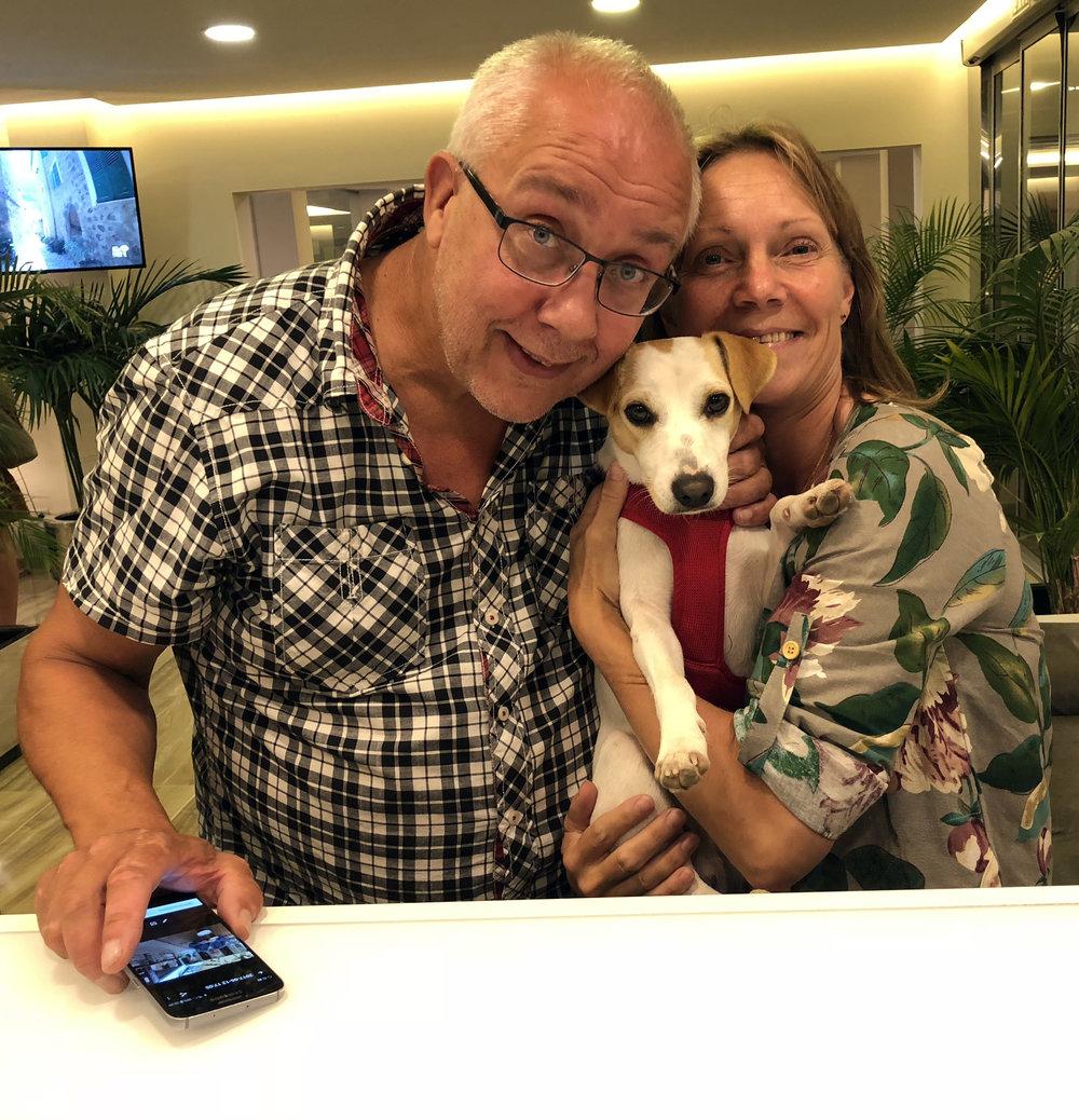 Con Susann y Anders, de Suecia.