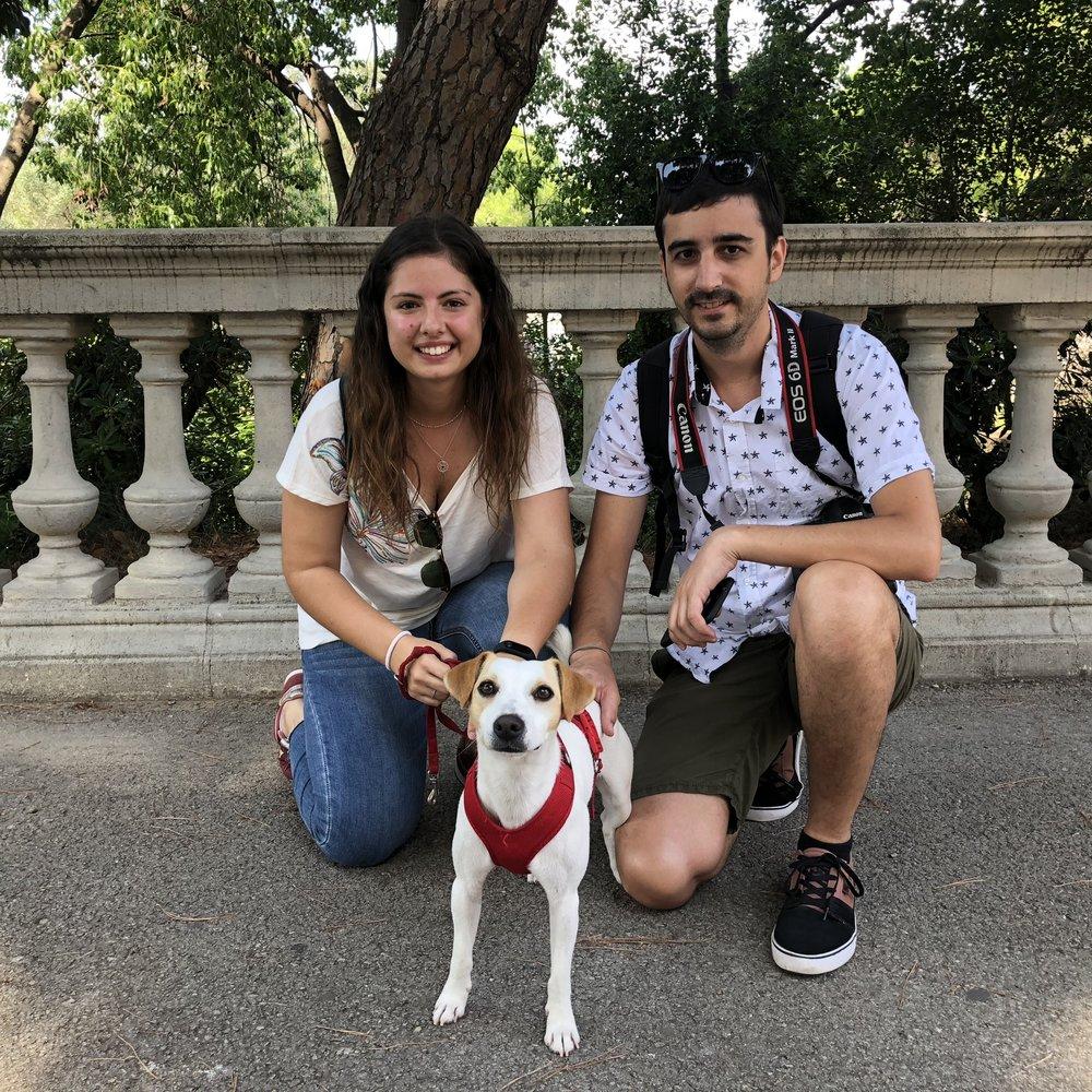 Con Juanjo y Cristina.