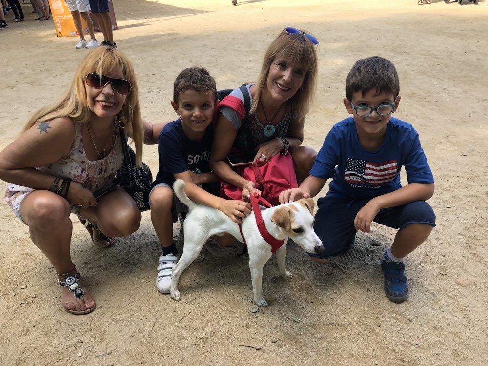 Con Andrea, Silvia, Matías y Manel.