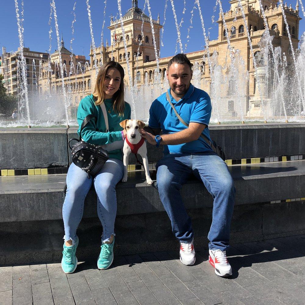 Con Mar y Alberto.