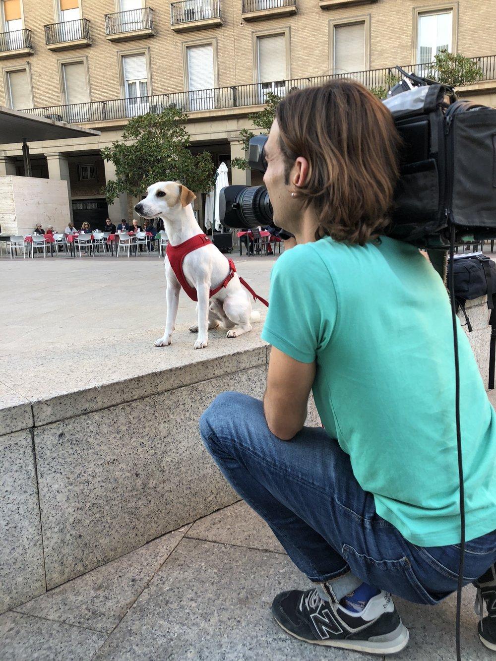Con Abel, de Aragón TV, en Zaragoza..