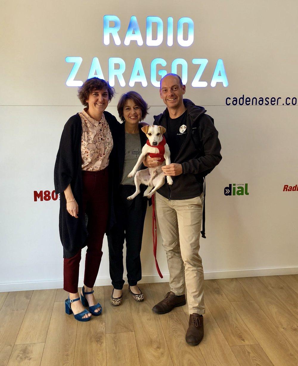 Con Ana y Eva (bueno, y Pablo) en Zaragoza..