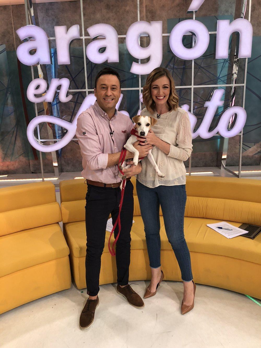 Con Jesús y Bea, de Aragón en Abierto, en Aragón TV.