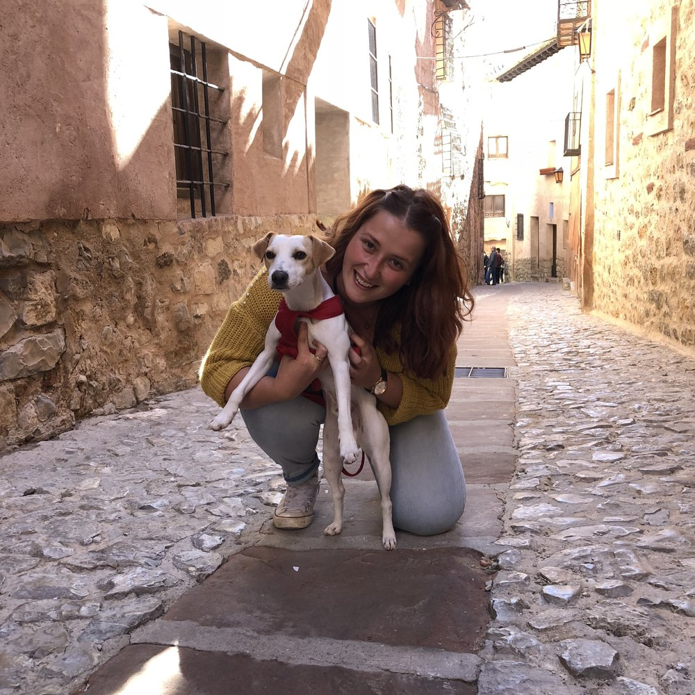 Con mi colega de El Andador, en Albarracín.