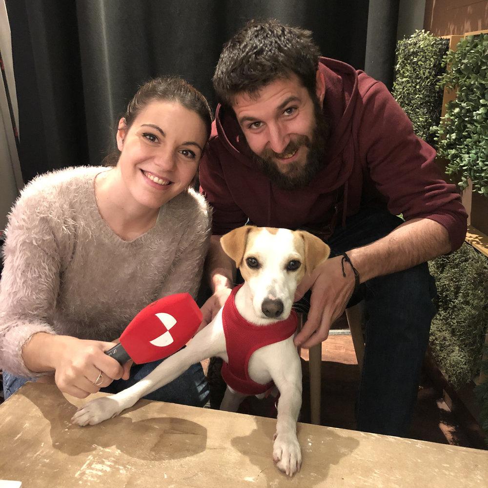 Con Blanca y Alvaro, de la TV de Castilla y León.