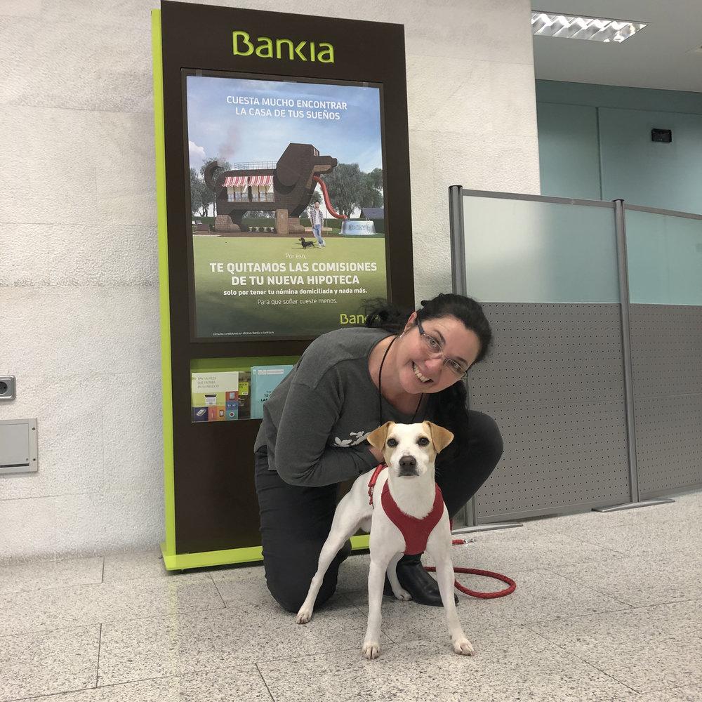 Con Raquel en Bankia Tres Cantos.