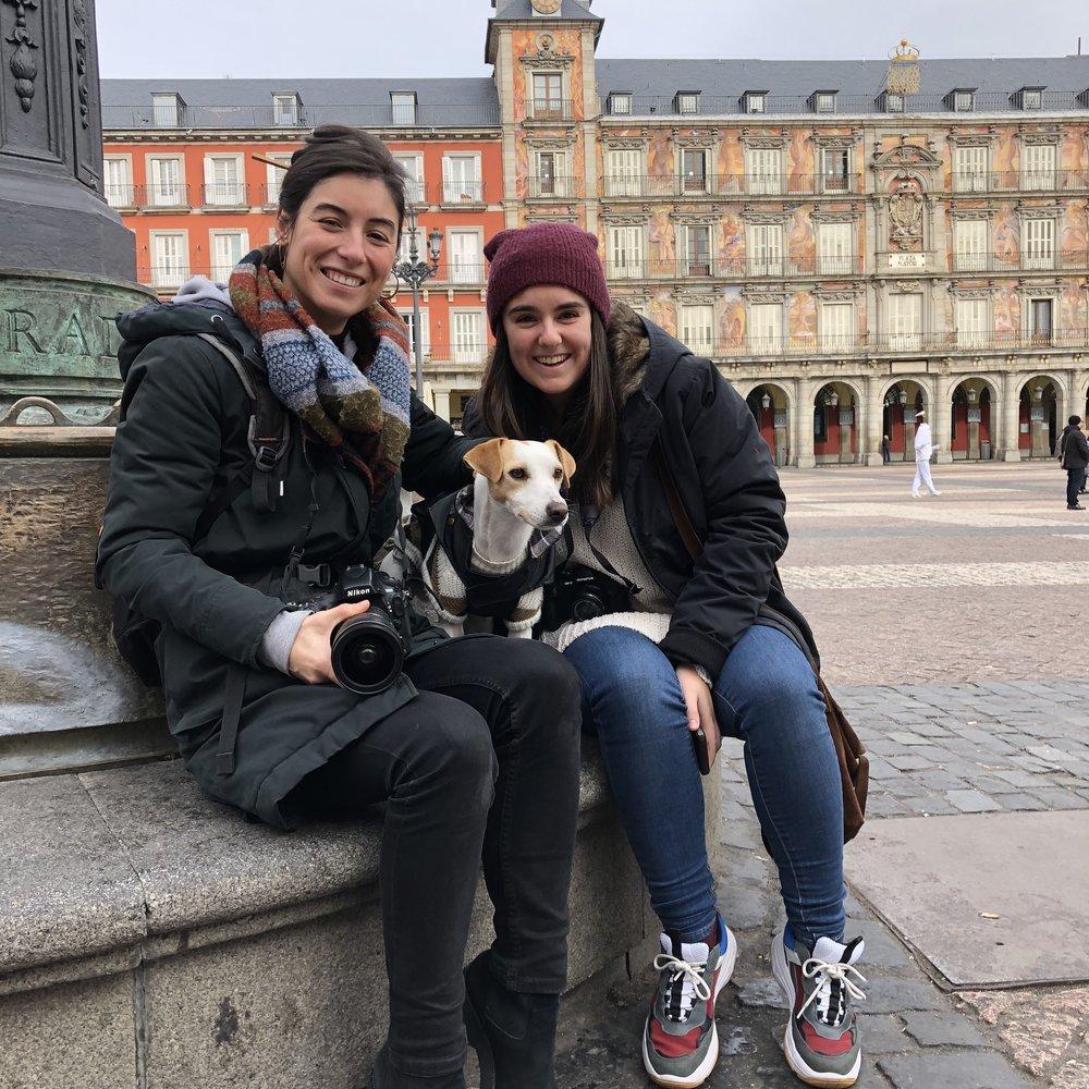 Con Silvia y Manuela.