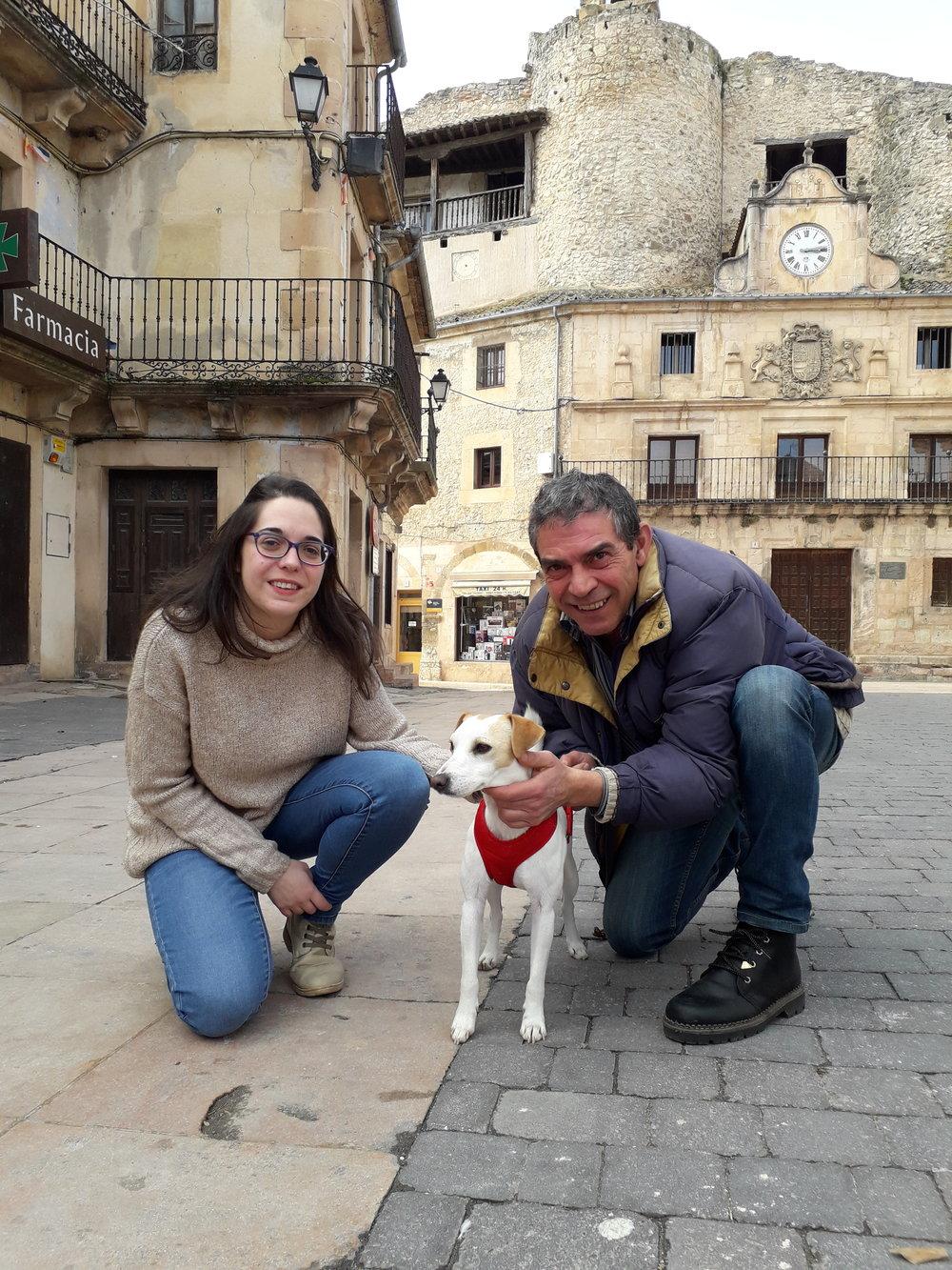 Con Paula y Ramón en Sepúlveda.