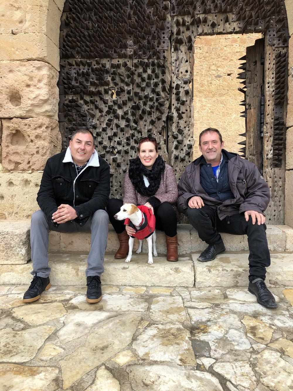 Con mis amigos del Castillo de Pedraza.