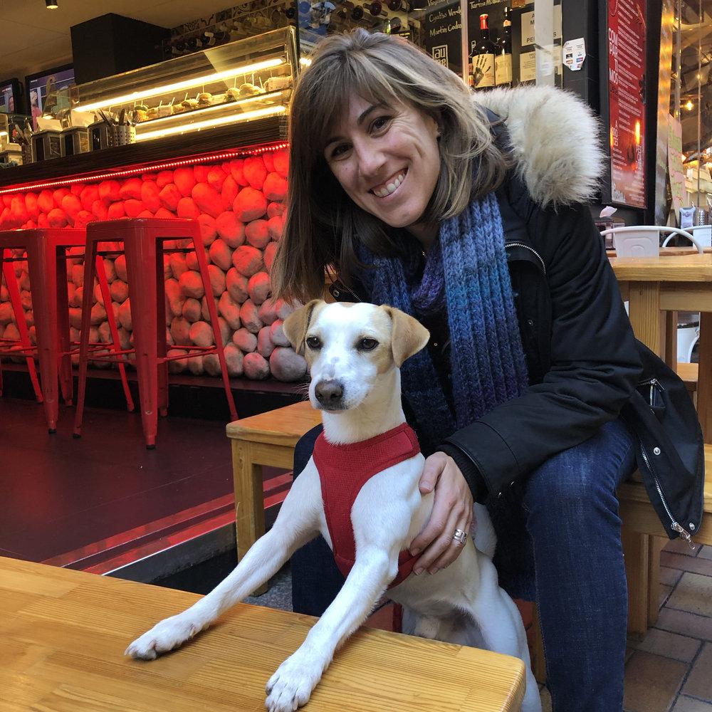 Con Laura en Benidorm.