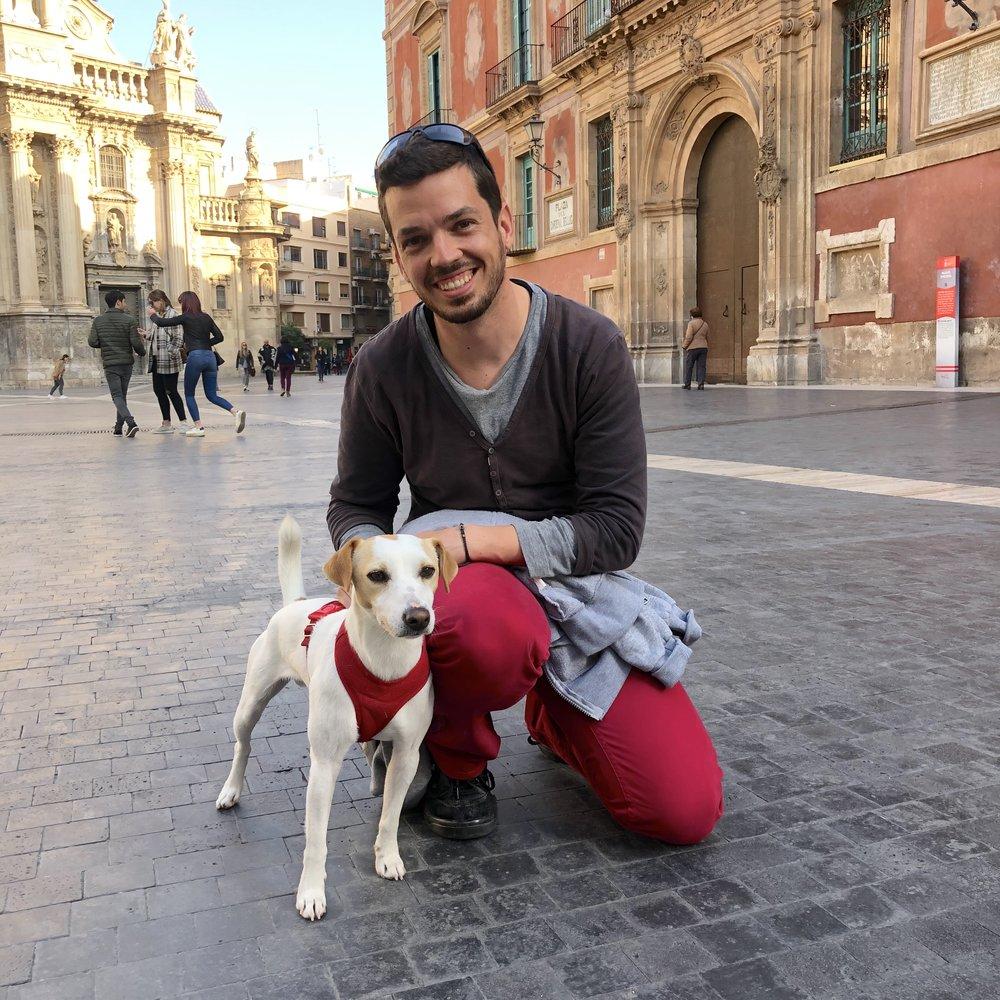 Con Jose, en Murcia.