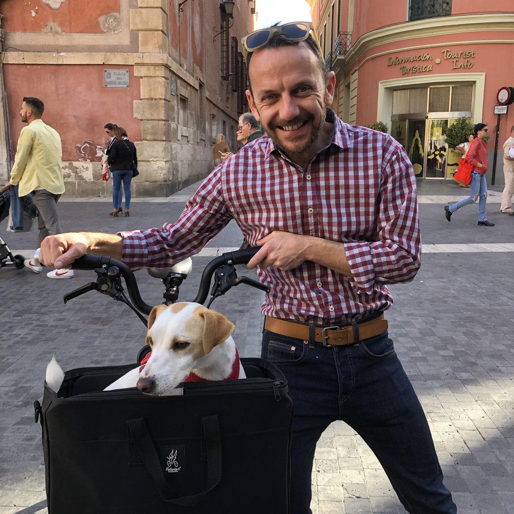 Con David en Murcia.