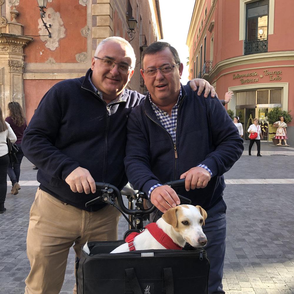 Con Paco y Miguel Ángel en Murcia.