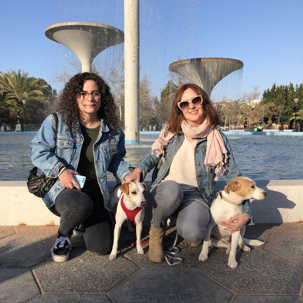 """Con Mónica, Rocío y """"Koke"""" en Murcia."""