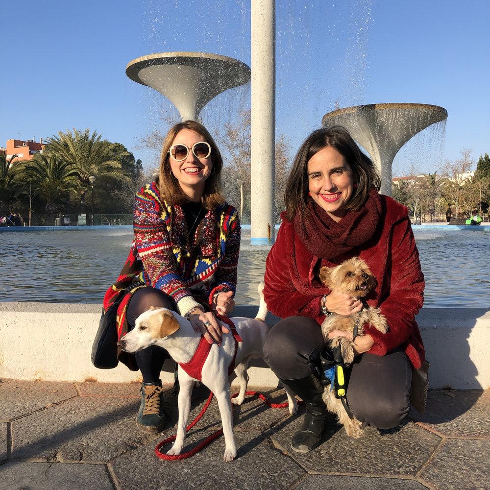 """Con Maika, Lourdes y """"Lulú"""" en Murcia."""