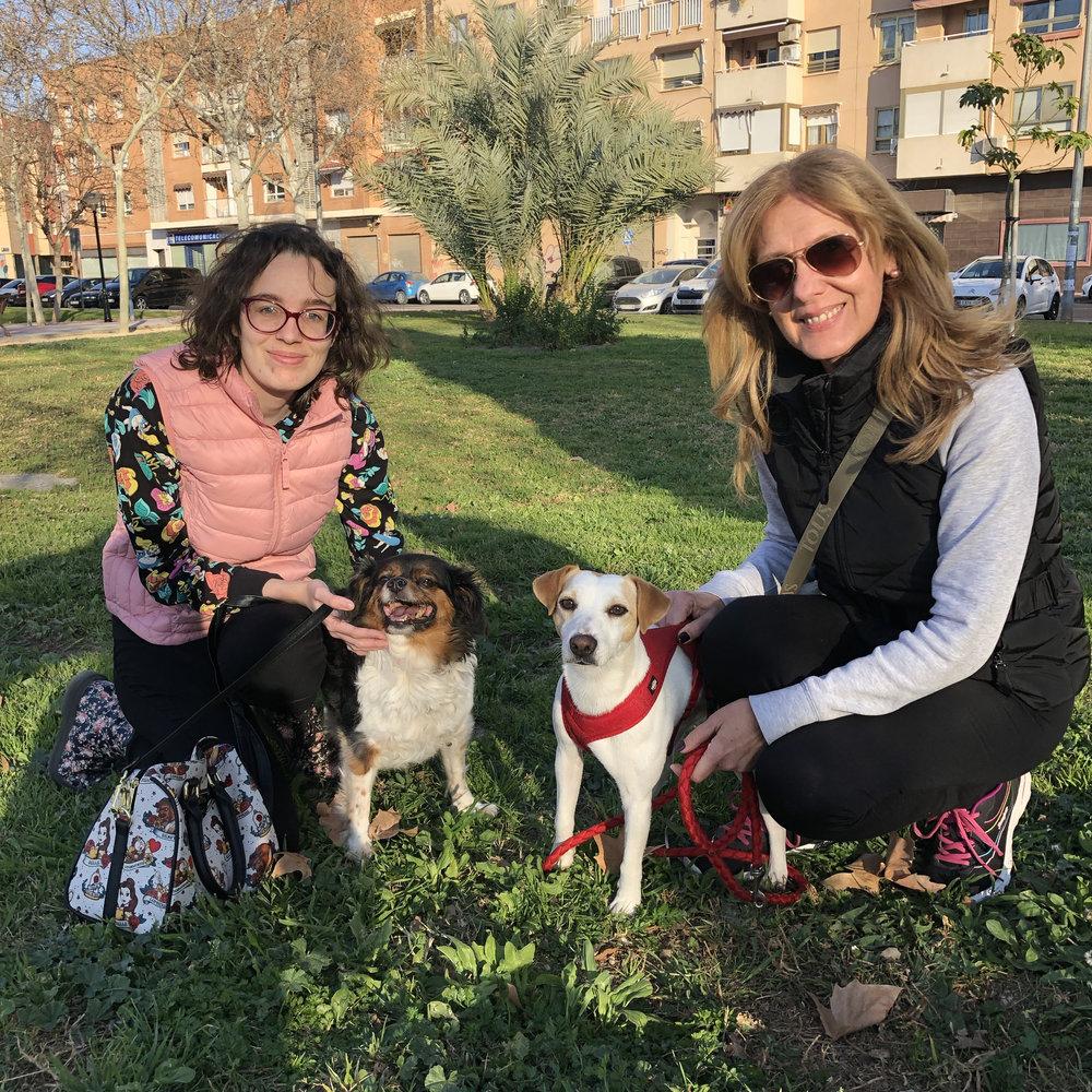 """Con Mar, María y """"Queen"""" en Murcia."""