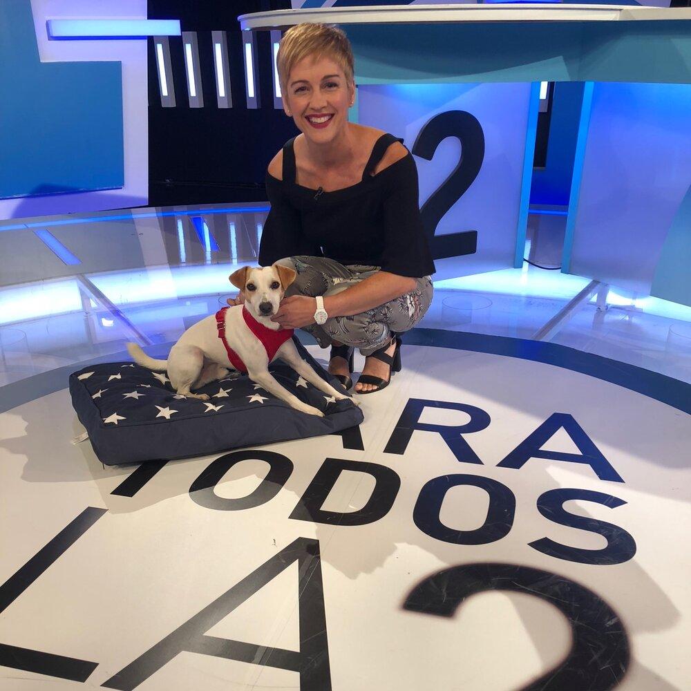 Con Marta en TVE.