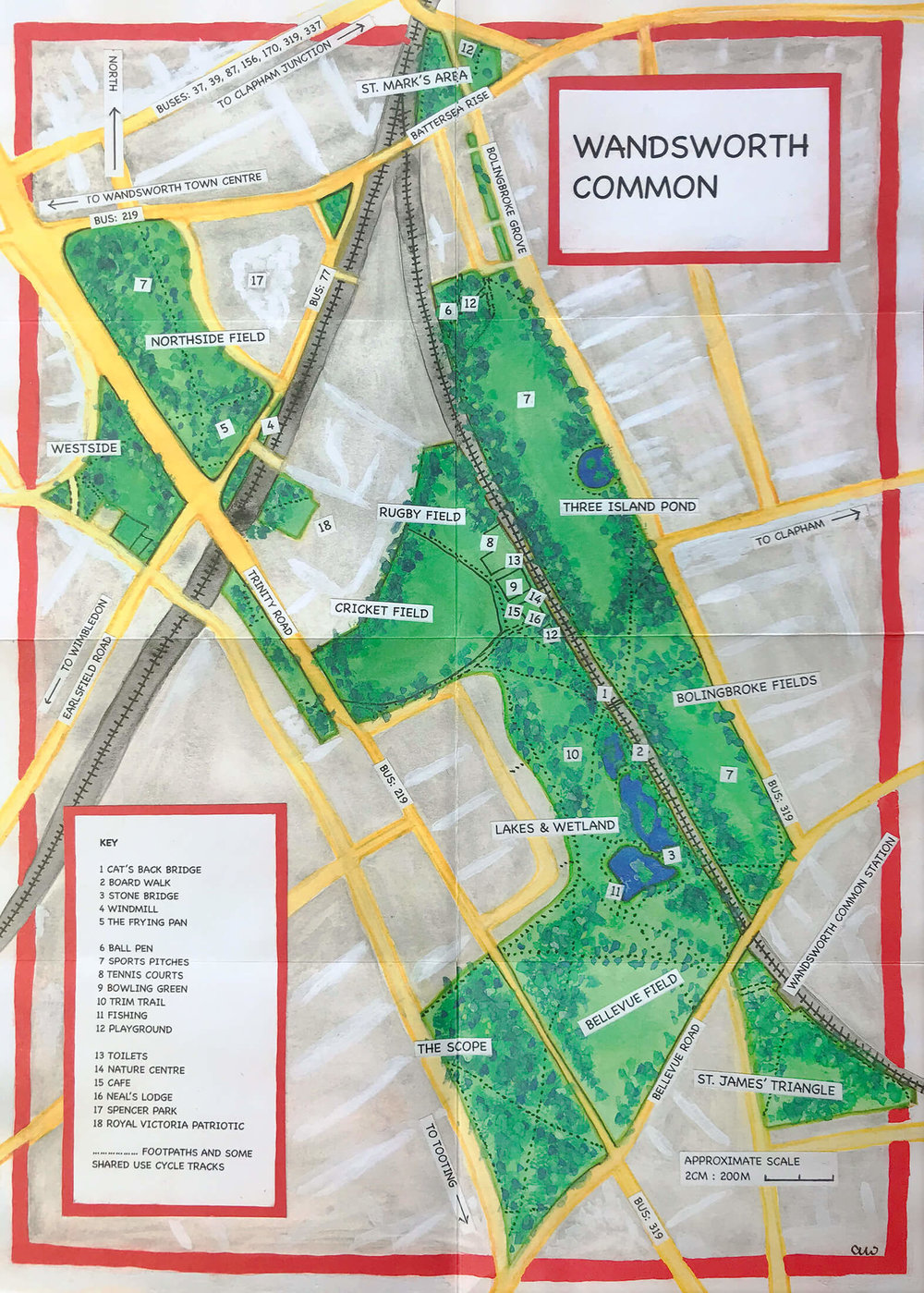 Wandsworth Common Map