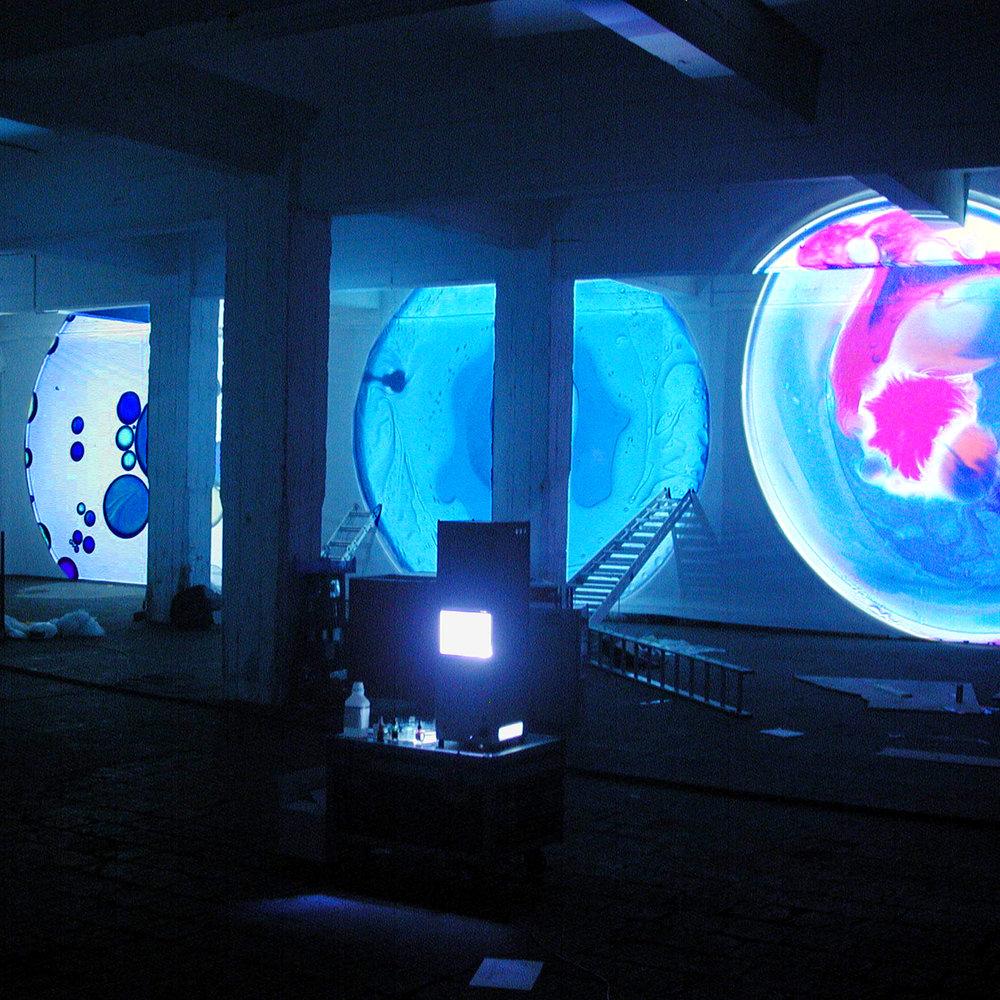 Lichter im Hafen Köln - 2002