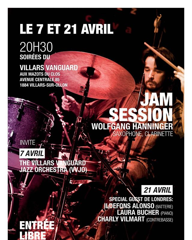 April - #villarsvanguard #villars #villarsbig #chablais #suisseromande #jazzclub #jazz #live #blues #funk #soul #jamsession #lesmazotsduclos #villarsgryon #suisse #vvjo #villarsvanguardjazzorchestra #music #concert #suisse