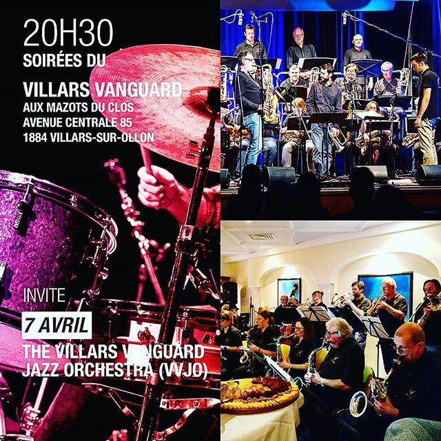 Next Saturday Jam Session Opening by an entire #bigband #jazzorchestra #villarsvanguard #vvjo #villarsvanguardjazzorchestra #jamsession #jazzclub #vaud #chablais #suisse #suisseromande #jazz #blues #funk #soul #vocal #villarsgryon