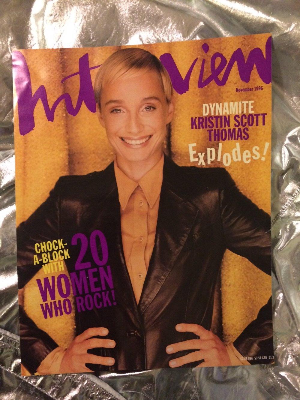 Assistenz der Modeleitung, Interview Magazine,  Covershooting mit Kristen Scott Thomas, New York City '96