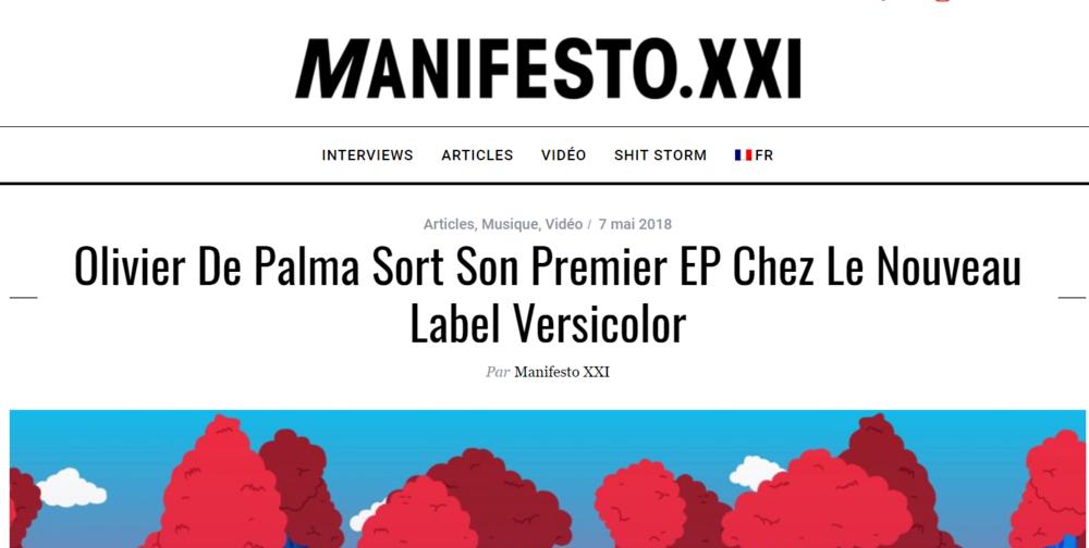 Manifesto XXI qui parle du dernier EP d'Olivier de Palma