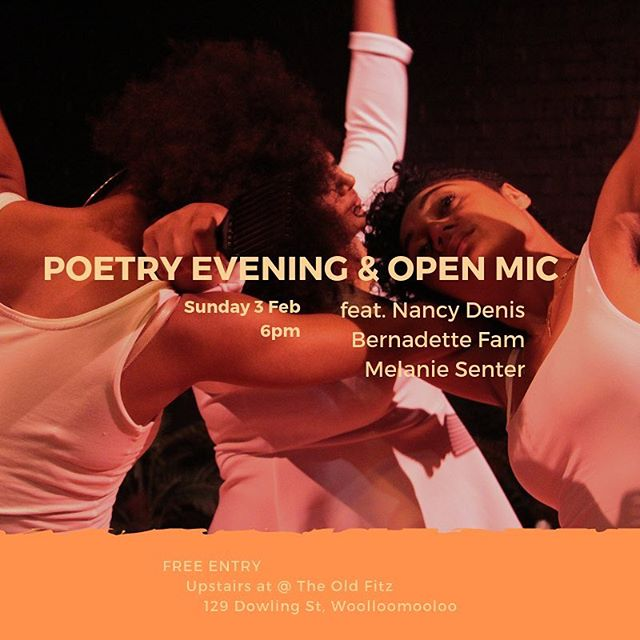 We're holding a poetry night after our Sunday show of #BrownSkinGirl ❤️ 6pm upstairs @redlineproductions_theoldfitz feat. Nancy Denis @nancydenis, Bernadette Fam @bernadettefam & Melanie Senter @caramelsaucemel 👏🏾 AND there'll also be open mic time, so come along with any work you'd like to share. FREE ENTRY! Come thruuuuu ✊🏾📸 @emeleugavule